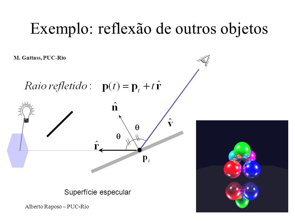 Alberto Raposo – PUC-Rio Exemplo: reflexão de outros objetos Superfície especular M.