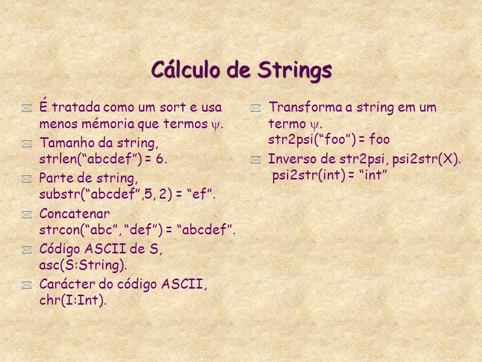 Comparação de Sorts d a c @ b {} * Não maior (c:\>d = true) * Não maior igual (c:\>=c = false) * Não menor (b\:<d = false) * Não menor igual (b:\<=d =