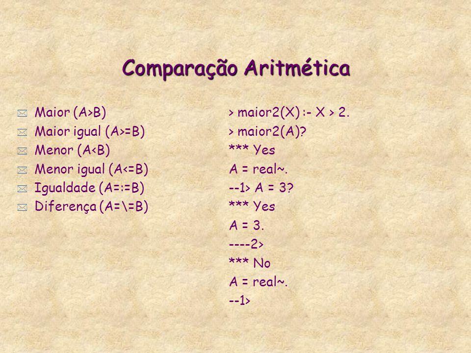 Cálculos Aritméticos * Gerador de números aleatórios initrandom(S:Real) random(N:Int) genint * initrandom(10).