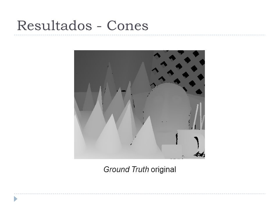 Resultados - Cones Ground Truth original