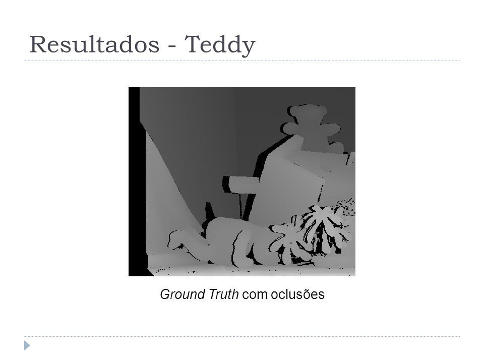 Resultados - Teddy Ground Truth com oclusões