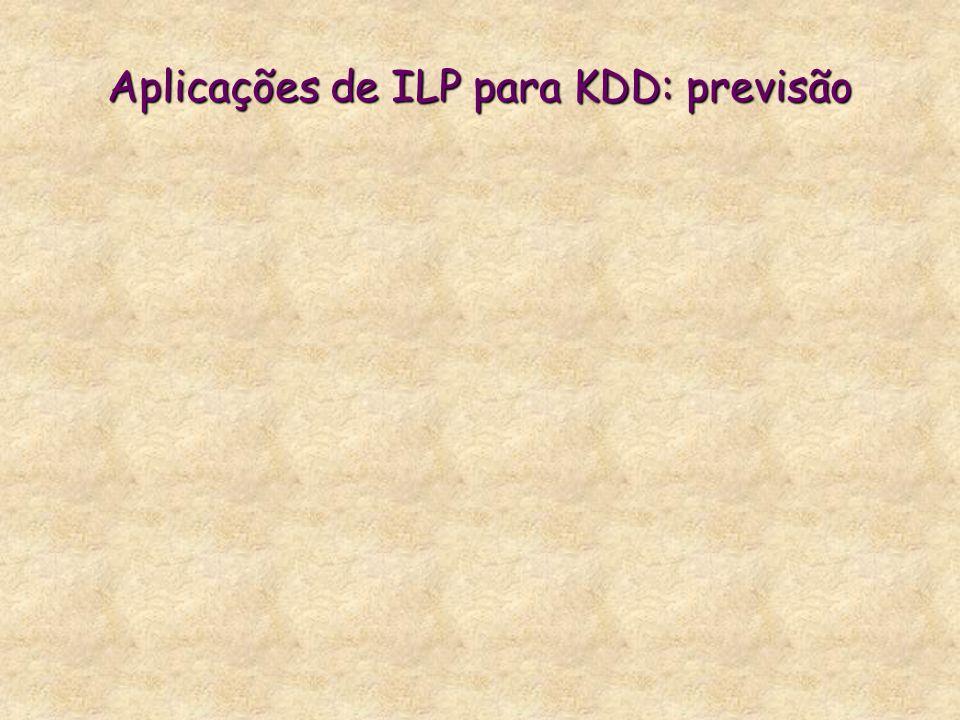 Aplicações de ILP para KDD: previsão