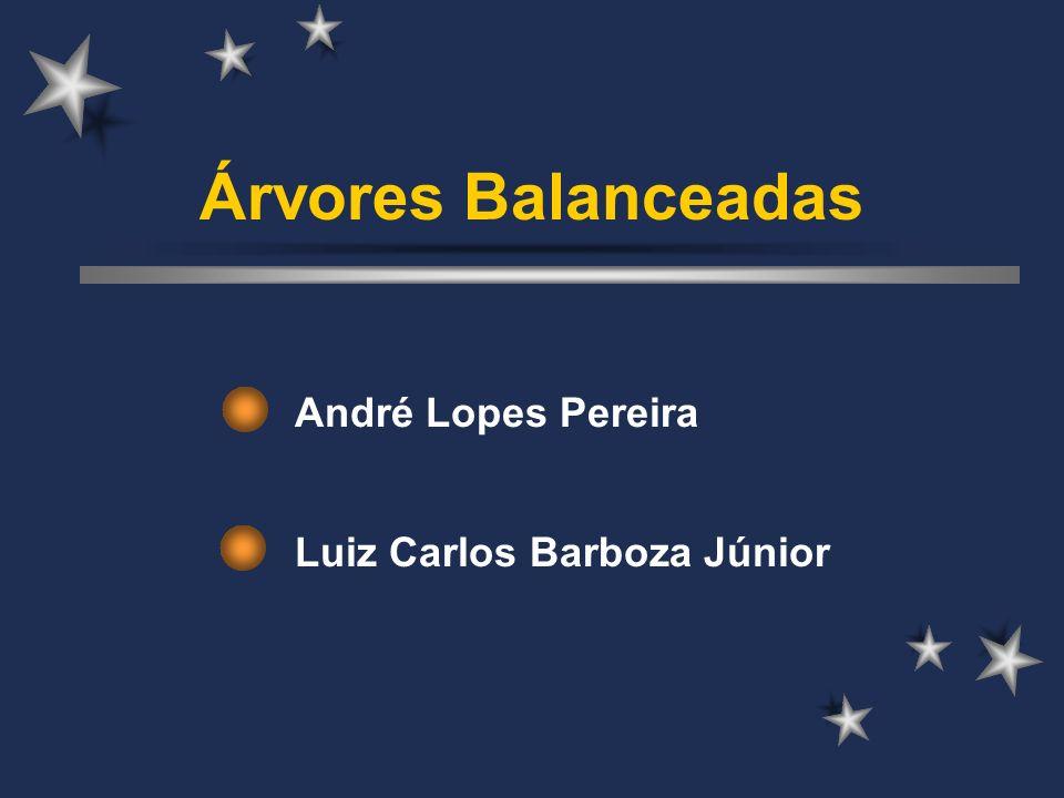 Árvores Balanceadas André Lopes Pereira Luiz Carlos Barboza Júnior