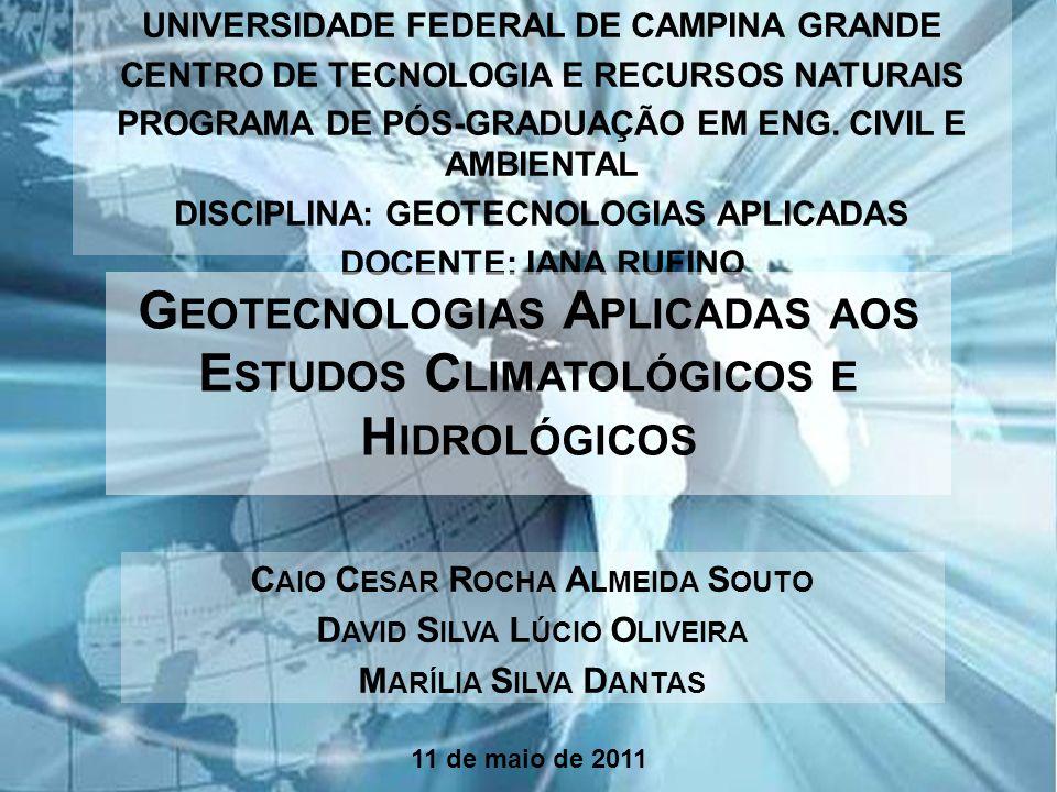 Page 1 UNIVERSIDADE FEDERAL DE CAMPINA GRANDE CENTRO DE TECNOLOGIA E RECURSOS NATURAIS PROGRAMA DE PÓS-GRADUAÇÃO EM ENG. CIVIL E AMBIENTAL DISCIPLINA: