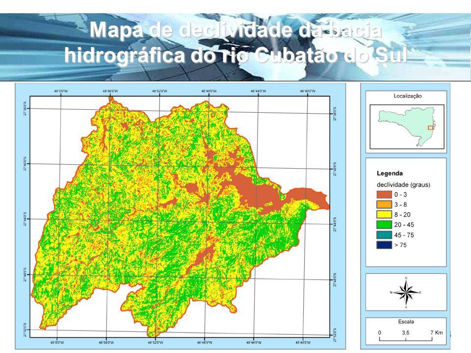 Page 26 Mapa de declividade da bacia hidrográfica do rio Cubatão do Sul