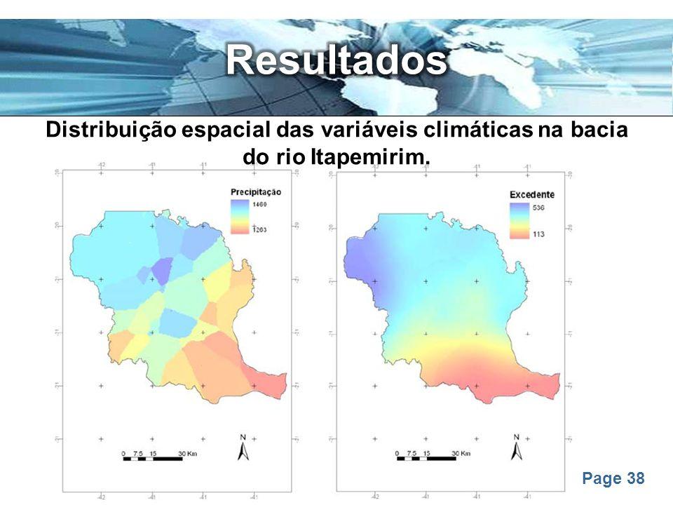 Page 38 Distribuição espacial das variáveis climáticas na bacia do rio Itapemirim.