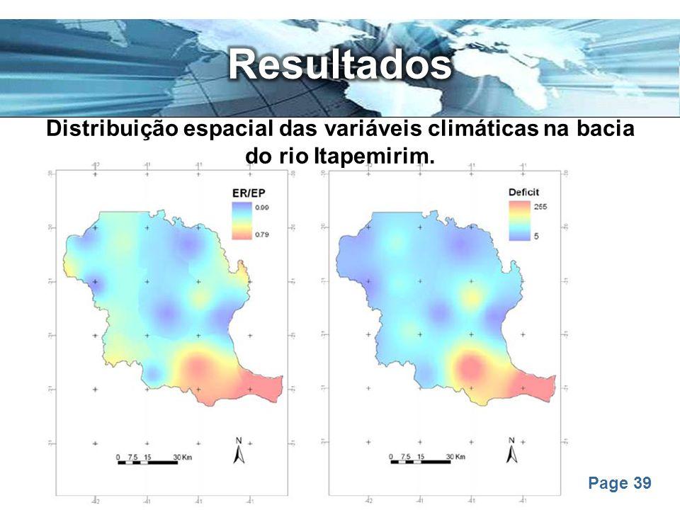 Page 39 Distribuição espacial das variáveis climáticas na bacia do rio Itapemirim.