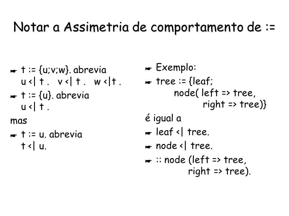 Possíveis Declarações de Sorts * :: t (atr). * :: t (atr) | restrições.