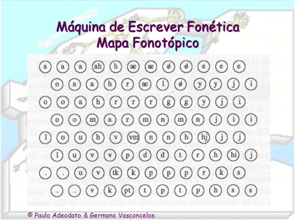 © Paulo Adeodato & Germano Vasconcelos Máquina de Escrever Fonética Mapa Fonotópico