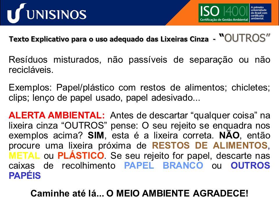 Resíduos Sólidos coletados pela Cooperesíduos no câmpus da Unisinos em 2005