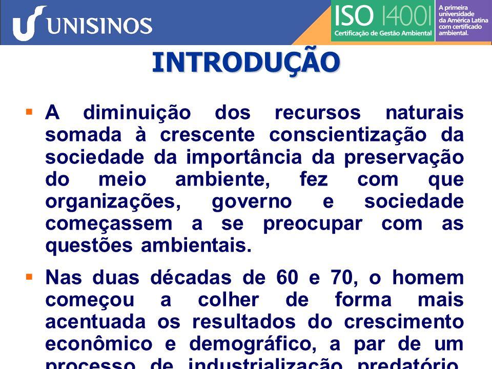 INTRODUÇÃO 1972 - 1ª Conferência das Nações Unidas sobre o Meio Ambiente – Estocolmo - que tratava mais diretamente de Direitos Humanos 1992 - Conferência das Nações Unidas para o Meio Ambiente e Desenvolvimento (Rio de Janeiro) - ECO/92 (noções de sustentabilidade - desenvolvimento econômico via práticas sustentadas)