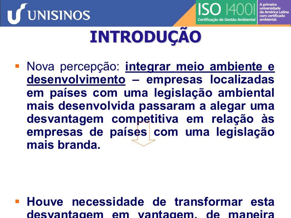 GESTÃO AMBIENTAL PREVENÇÃO DA POLUIÇÃO DESENVOLVIMENTO SUSTENTÁVEL Planejamento Empresarial