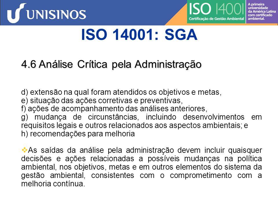 SGA Etapas x Ações Política ambiental de organização...