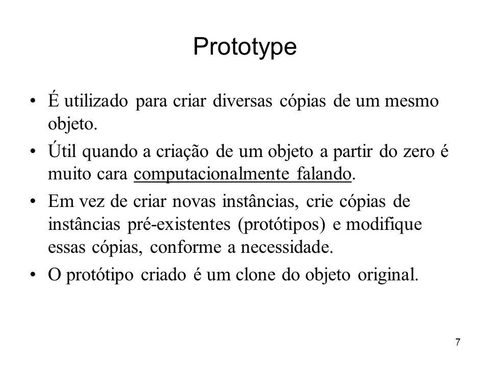8 Estrutura do Prototype