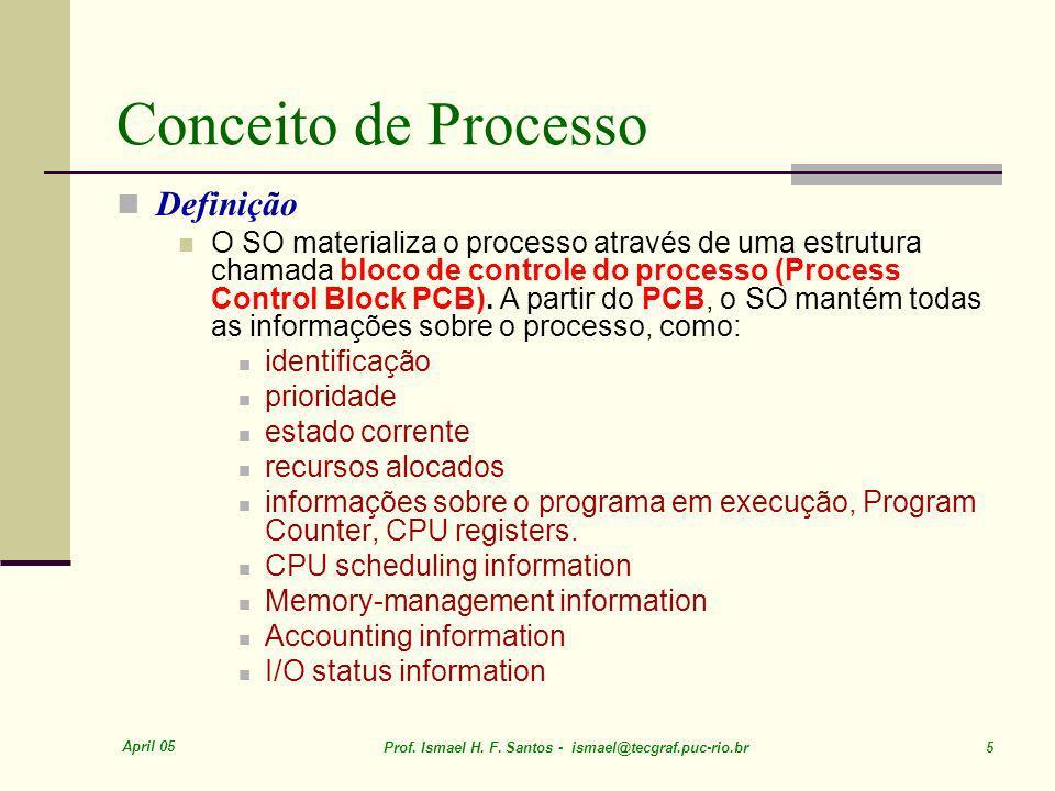 April 05 Prof.Ismael H. F. Santos - ismael@tecgraf.puc-rio.br 76 5 ut 4 ut Proc.