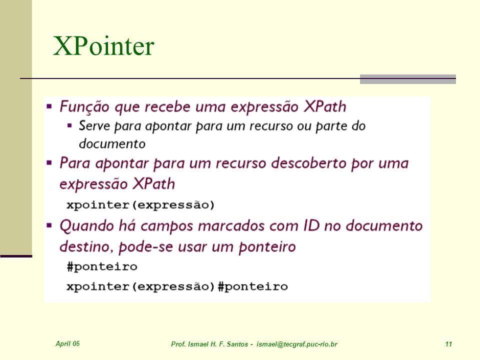 April 05 Prof. Ismael H. F. Santos - ismael@tecgraf.puc-rio.br 11 XPointer