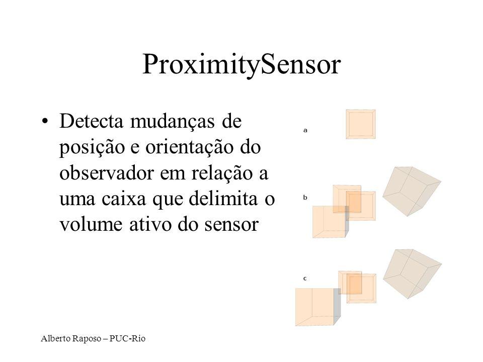 Alberto Raposo – PUC-Rio ProximitySensor Detecta mudanças de posição e orientação do observador em relação a uma caixa que delimita o volume ativo do