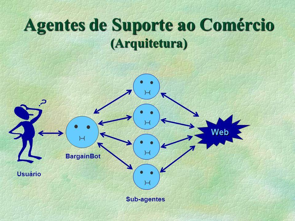 Agentes de Suporte ao Comércio (Arquitetura) )--( Web Usuário BargainBot Sub-agentes )--(