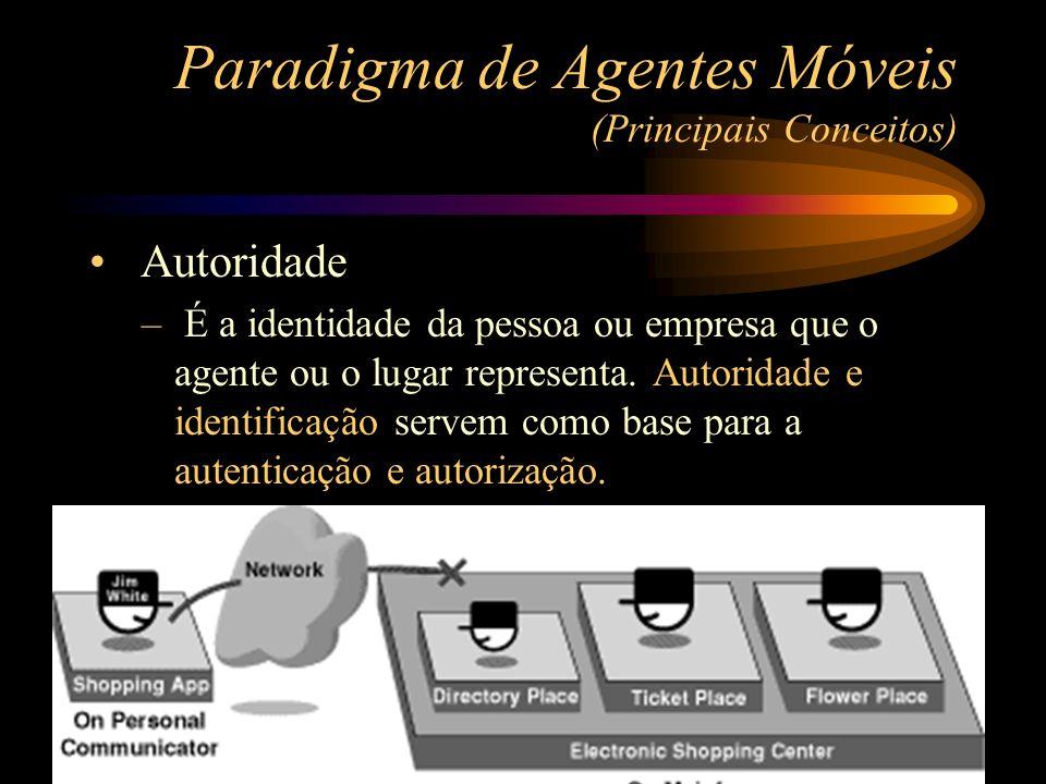 Autoridade – É a identidade da pessoa ou empresa que o agente ou o lugar representa. Autoridade e identificação servem como base para a autenticação e