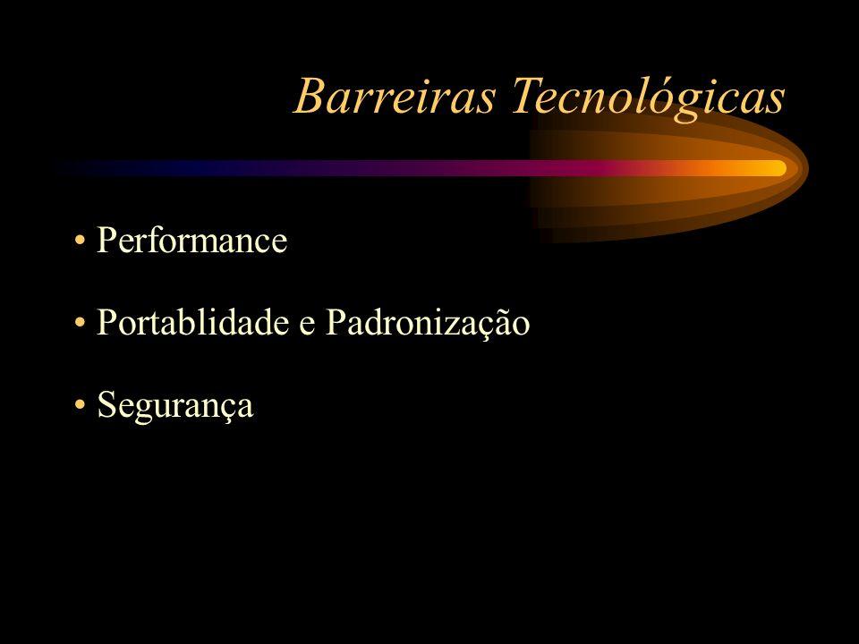 Performance Portablidade e Padronização Segurança Barreiras Tecnológicas