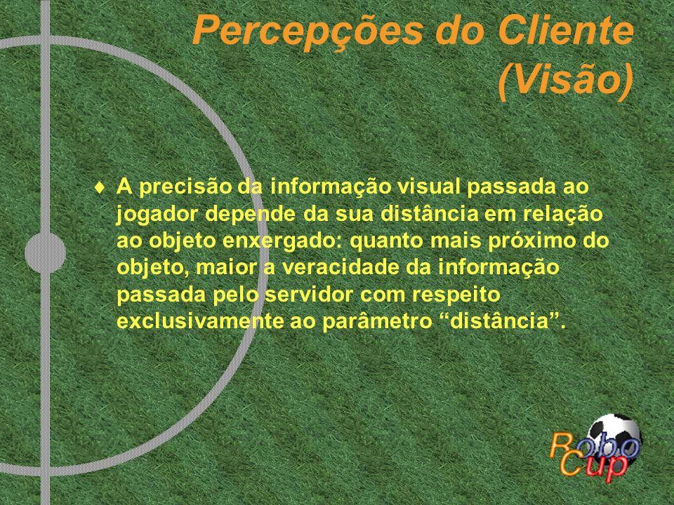 Percepções do Cliente (Visão) A precisão da informação visual passada ao jogador depende da sua distância em relação ao objeto enxergado: quanto mais