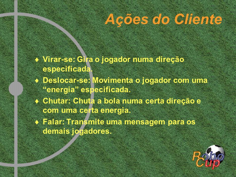 Ações do Cliente Virar-se: Gira o jogador numa direção especificada. Deslocar-se: Movimenta o jogador com uma energia especificada. Chutar: Chuta a bo