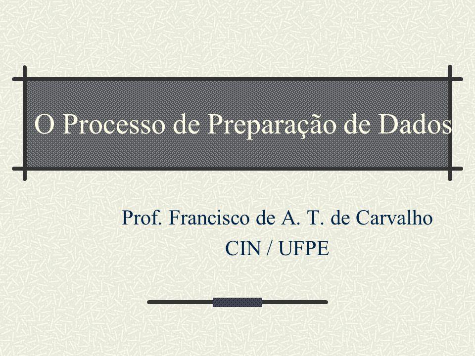 O Processo de Preparação de Dados Prof. Francisco de A. T. de Carvalho CIN / UFPE