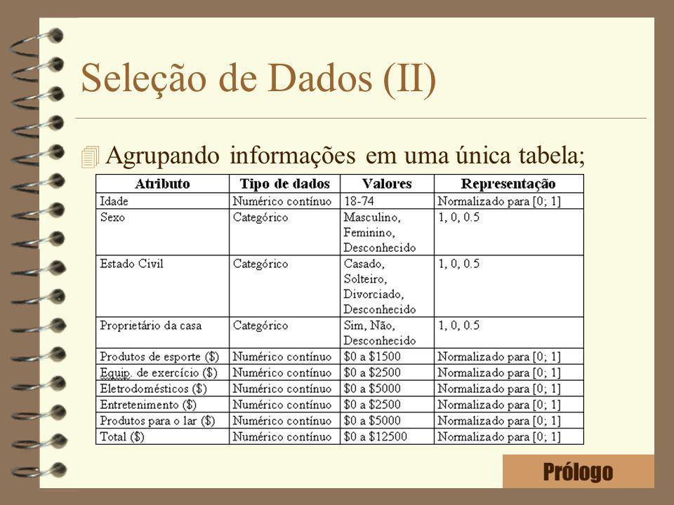 Seleção de Dados (II) 4 Agrupando informações em uma única tabela; Prólogo