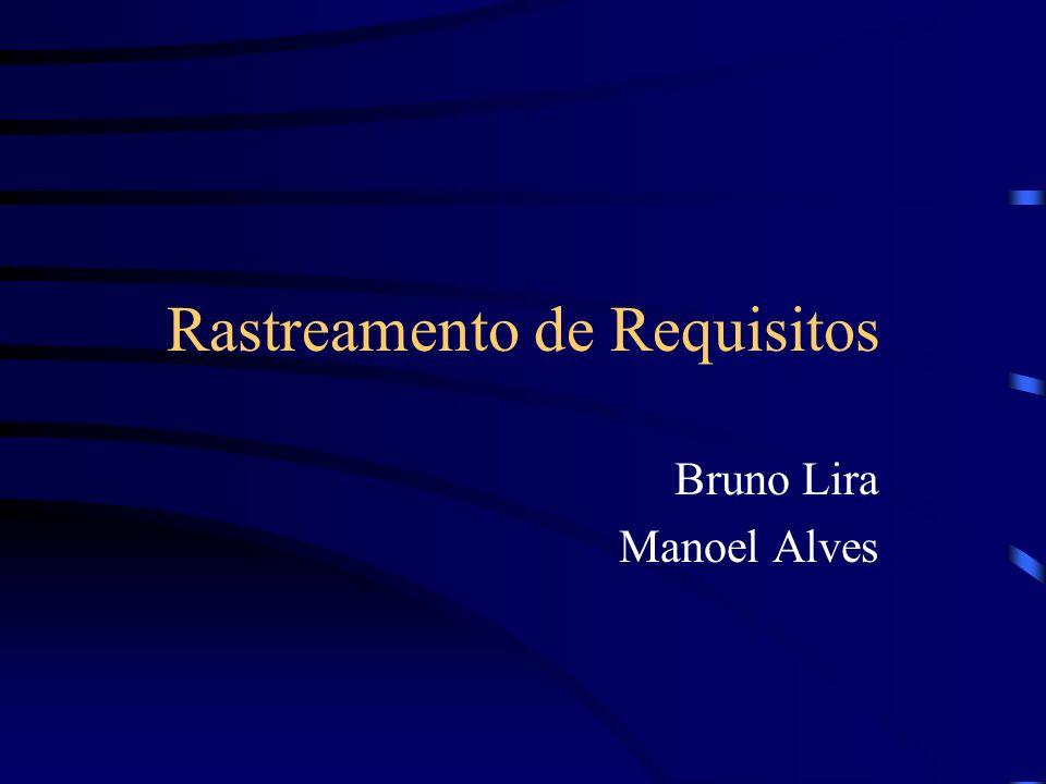 Rastreamento de Requisitos Bruno Lira Manoel Alves