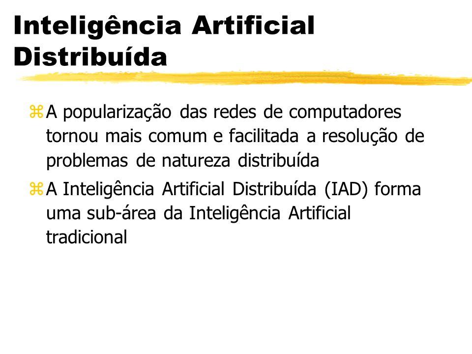 Inteligência Artificial Distribuída zA popularização das redes de computadores tornou mais comum e facilitada a resolução de problemas de natureza dis