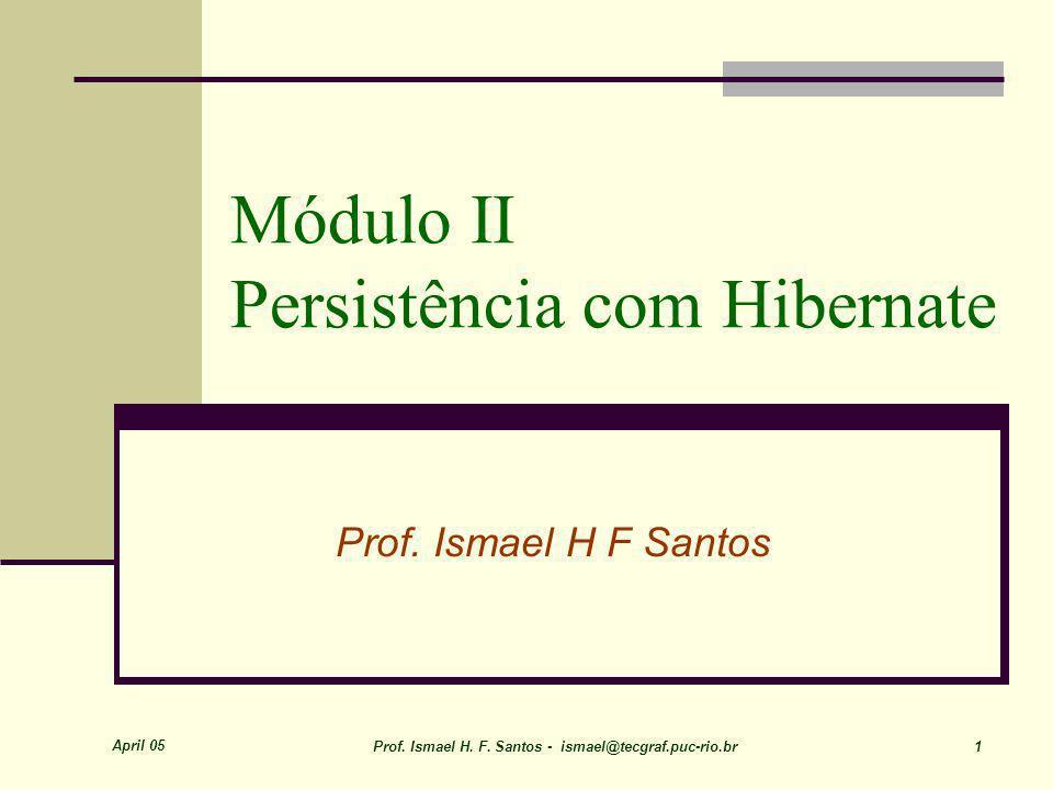 April 05 Prof. Ismael H. F. Santos - ismael@tecgraf.puc-rio.br 42 Mapeamento de Classes FPSW-Java