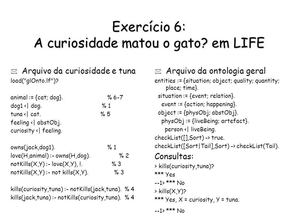 Exercício 6: A curiosidade matou o gato? em LIFE * Arquivo da curiosidade e tuna load(
