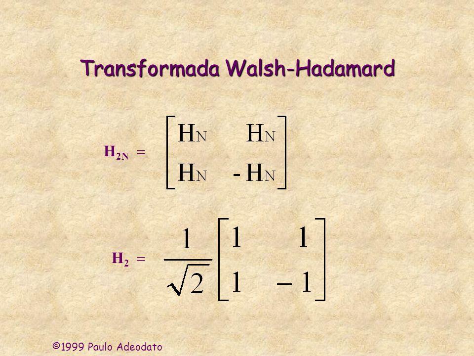 ©1999 Paulo Adeodato Transformada Walsh-Hadamard H 2N H 2
