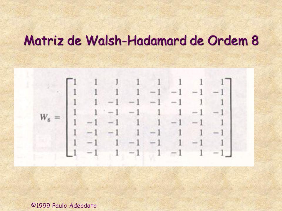 ©1999 Paulo Adeodato Matriz de Walsh-Hadamard de Ordem 8