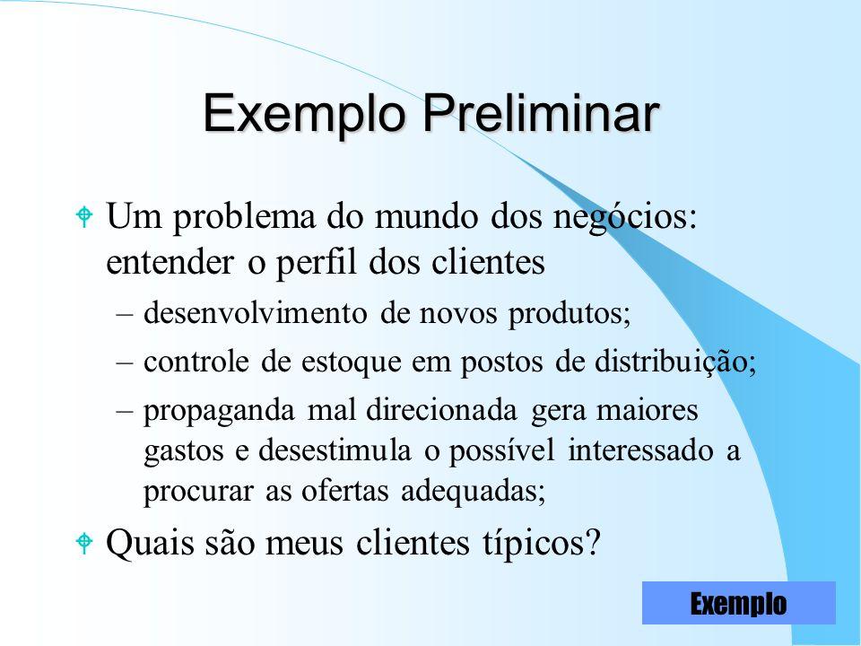 17 Data Mining W É a verdadeira extração dos padrões de comportamento dos dados (exemplos) Processo