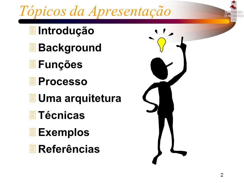 1 DATA MINING Disciplina Banco de Dados 1998 Alunos Fernando Silvera Goulart Júnior - fsgj@di.ufpe.br Robson do Nascimento Fidalgo - rdnf@di.ufpe.br R