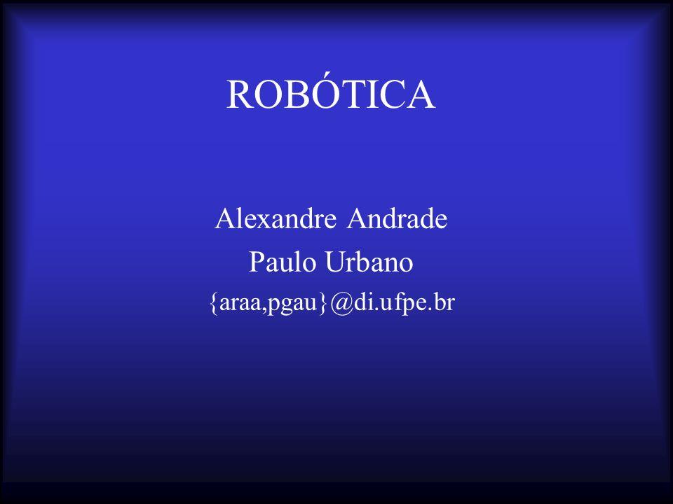 ROBÓTICA Alexandre Andrade Paulo Urbano {araa,pgau}@di.ufpe.br