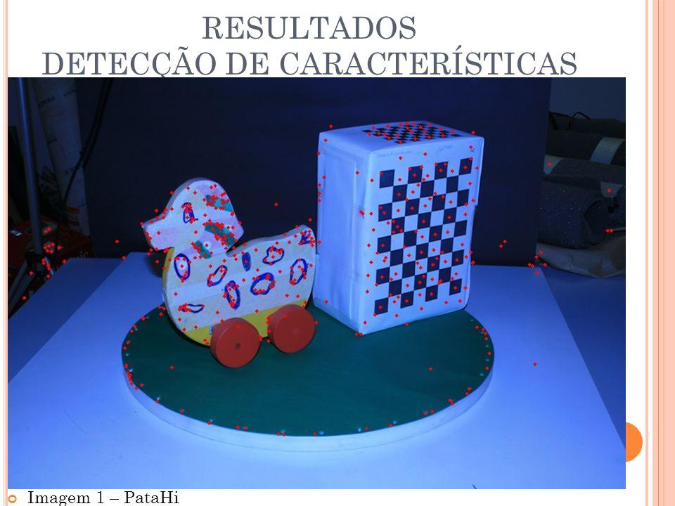 RESULTADOS DETECÇÃO DE CARACTERÍSTICAS Imagem 1 – PataHi