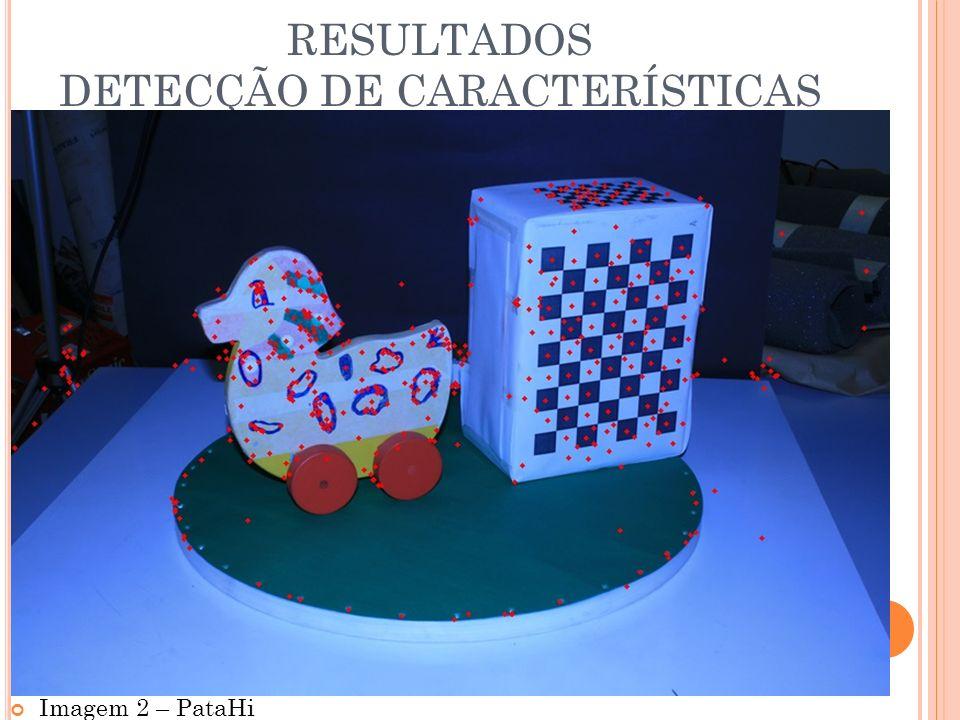 RESULTADOS DETECÇÃO DE CARACTERÍSTICAS Imagem 2 – PataHi