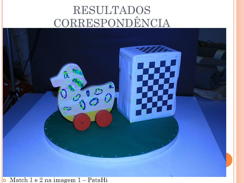 RESULTADOS CORRESPONDÊNCIA Match 1 e 2 na imagem 1 – PataHi