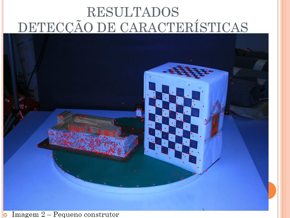 RESULTADOS DETECÇÃO DE CARACTERÍSTICAS Imagem 2 – Pequeno construtor