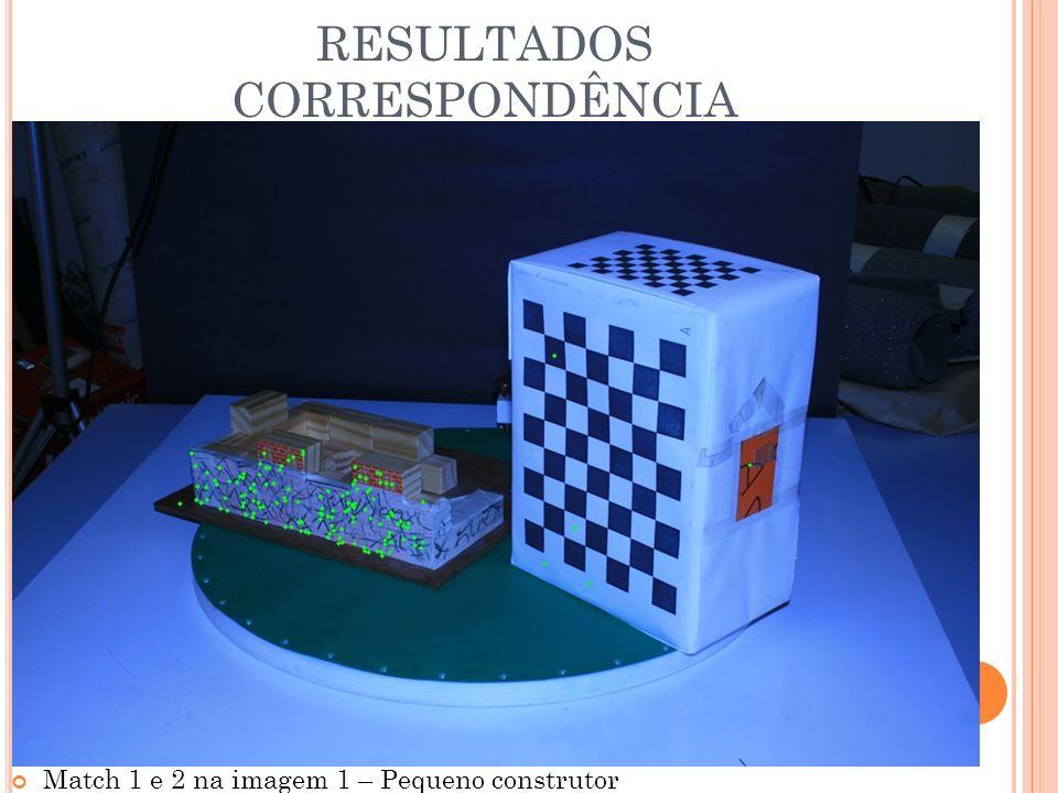 RESULTADOS CORRESPONDÊNCIA Match 1 e 2 na imagem 1 – Pequeno construtor