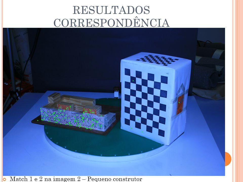 RESULTADOS CORRESPONDÊNCIA Match 1 e 2 na imagem 2 – Pequeno construtor