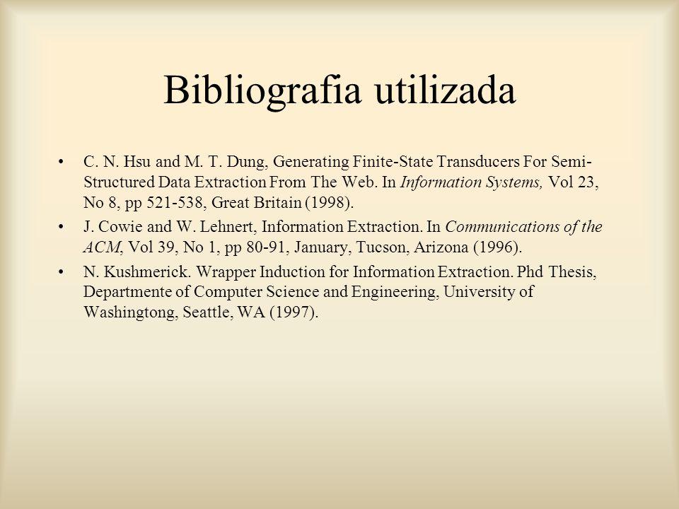 Bibliografia utilizada C. N. Hsu and M. T.