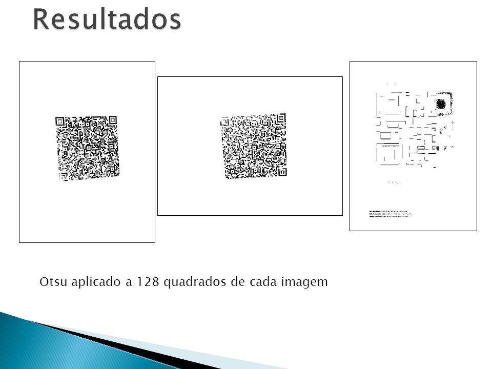 Otsu aplicado a 128 quadrados de cada imagem