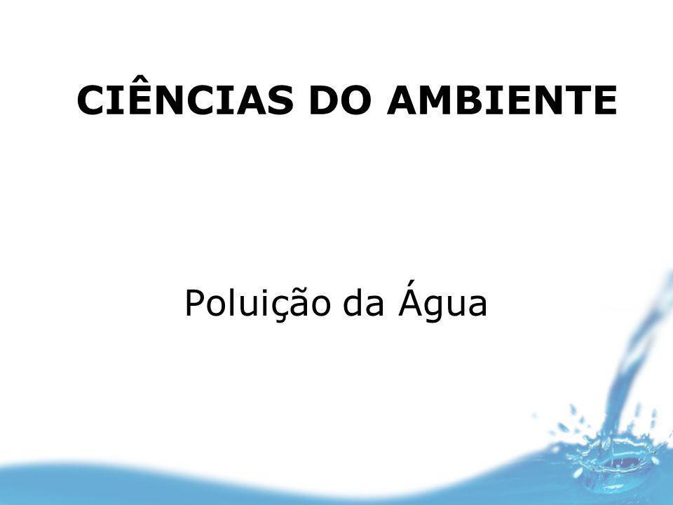 Poluição da Água CIÊNCIAS DO AMBIENTE