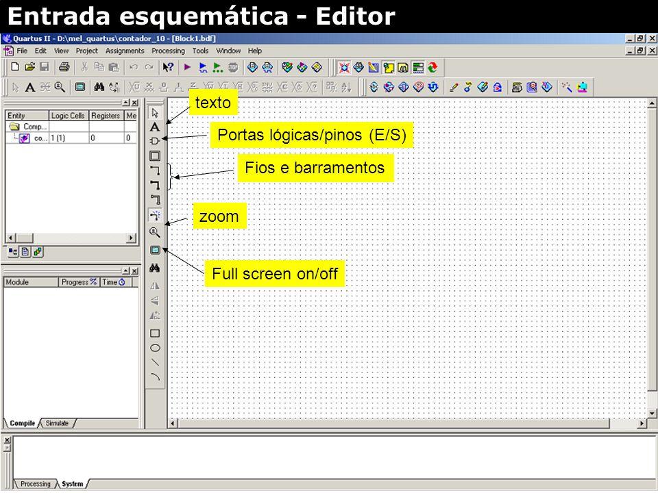 Entrada esquemática Cria editor esquemático