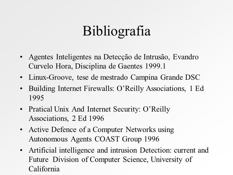 Bibliografia Agentes Inteligentes na Detecção de Intrusão, Evandro Curvelo Hora, Disciplina de Gaentes 1999.1 Linux-Groove, tese de mestrado Campina G