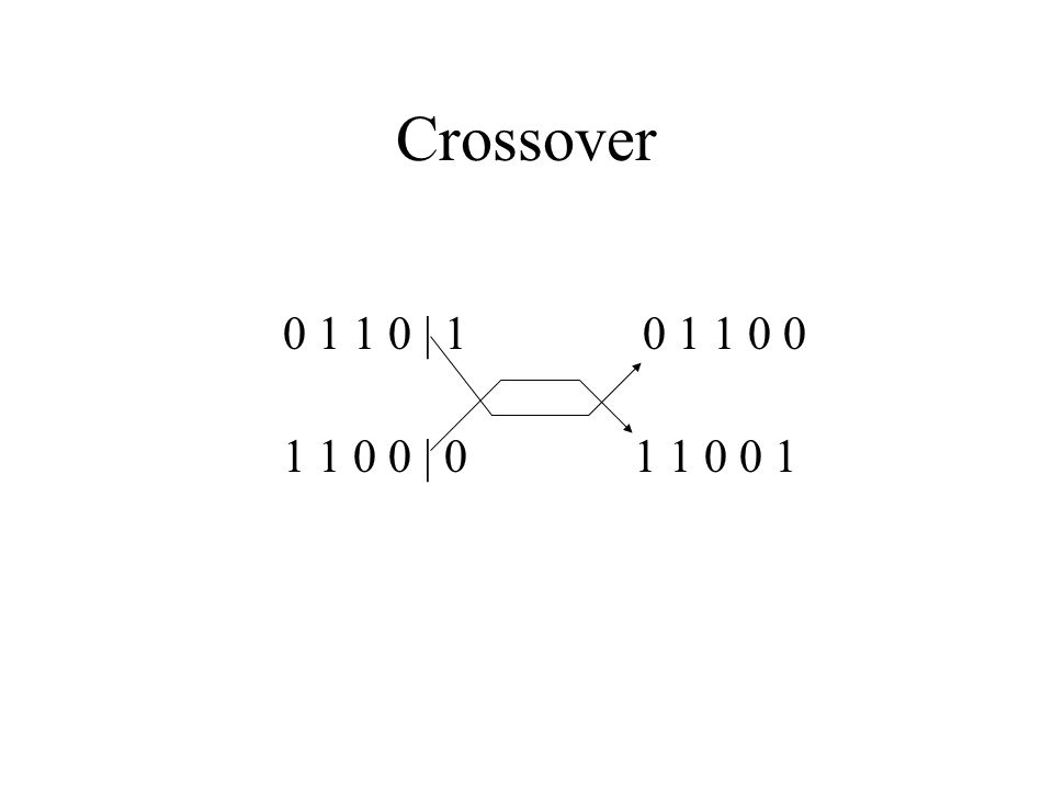 Crossover 0 1 1 0 | 1 1 1 0 0 | 0 0 1 1 0 0 1 1 0 0 1