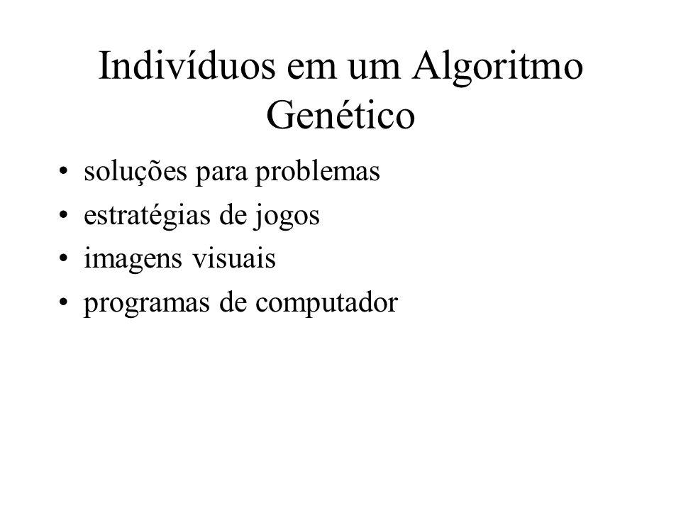 Indivíduos em um Algoritmo Genético soluções para problemas estratégias de jogos imagens visuais programas de computador